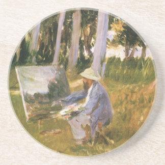 Malender Claude Monet, Rand eines Holzes durch Getränkeuntersetzer