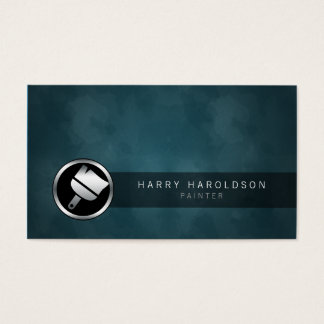 Maler-Pinsel-Ikonen-dunkle Schmutz-Visitenkarte Visitenkarten