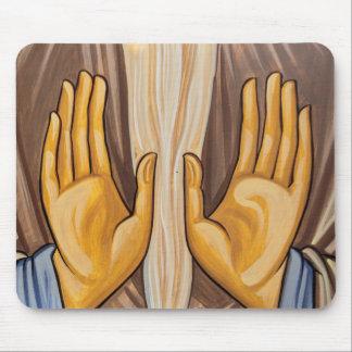 Malerei der Hände in einer Kirche Mousepads