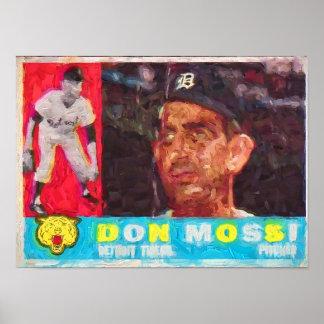 Malerei der Sechzigerjahre Baseballkarte Poster