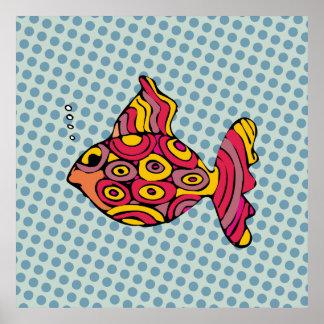 Malerei des Fischs im Pop Art - AN-0004A Poster