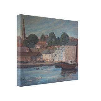 Malerei Exeters Quay Galerie Gefaltete Leinwand