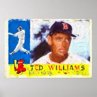 Malerei von Baseballkarte 1960 Poster