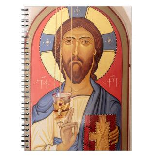 Malerei von Jesus Notizblock