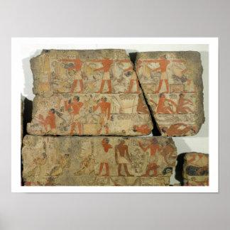 Malereien vom Grab von Metjetji, von Sakkara, Poster
