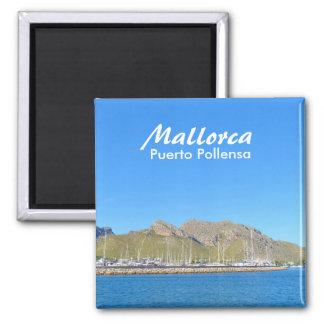 Mallorca, Puerto Pollensa - Magnet Quadratischer Magnet