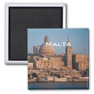Malta-Reise-Andenken-Foto-Kühlschrankmagnet Quadratischer Magnet