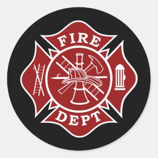 Malteserkreuz-runder Aufkleber Feuer-Abteilung