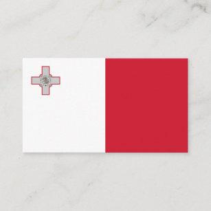 Maltesische Flagge, Flagge von Malta Visitenkarte