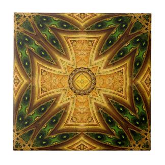 Maltesische keltische kombinierte Mandala-Fliese Kleine Quadratische Fliese