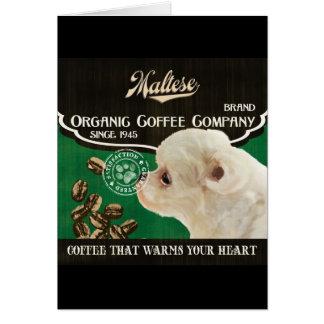 Maltesische Marke - Organic Coffee Company Karte