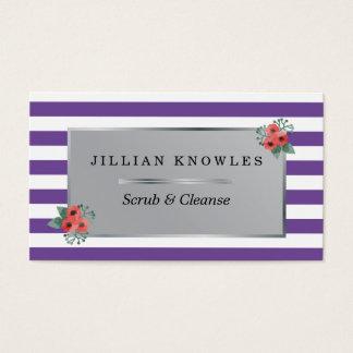 Malvenfarbe Stripes jede mögliche Blumen Farbe Visitenkarten