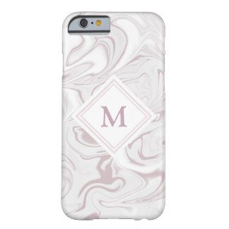Malvenfarbener und weißer Marmorblick mit Barely There iPhone 6 Hülle