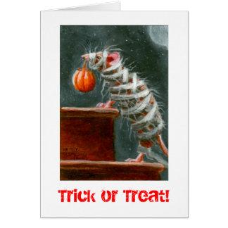 Mama-Maus, Trick oder Leckerei! Halloween-Karte Mitteilungskarte
