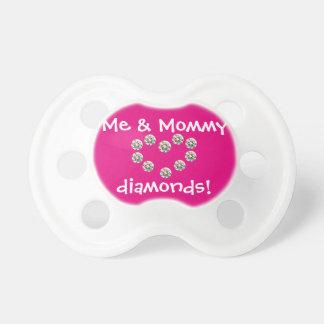 Mama u. ich Diamant-Schnuller, rosa Schnuller