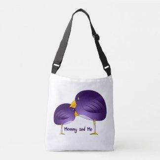 Mama und ich lila Vogel-Baby-Taschen-Tasche Tragetaschen Mit Langen Trägern