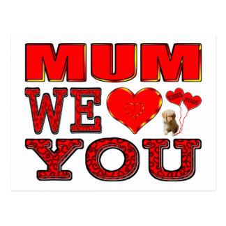 Mama wir Liebe Sie Postkarte