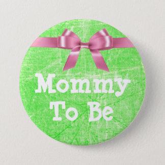 Mama, zum Limoner grüner und rosa Knopf zu sein Runder Button 7,6 Cm
