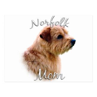 Mamma 2 Norfolks Terrier Postkarte