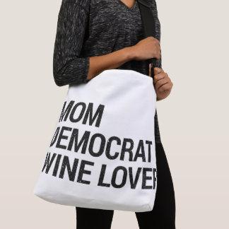 Mamma-Demokrat-Wein-Liebhaber-Tasche Tragetaschen Mit Langen Trägern