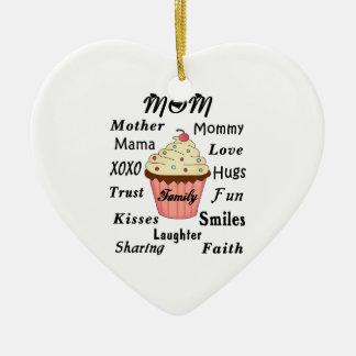Mamma-Familien-kleiner Kuchen Keramik Ornament