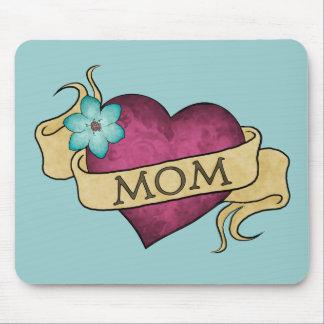 Mamma-Herz-Tätowierung Mousepad