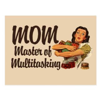 Mamma ist der Meister des Multitaskings Postkarte
