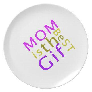 Mamma ist die beste Geschenk-Platte Teller