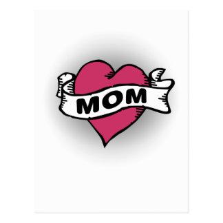 Mamma-Tätowierung Postkarte