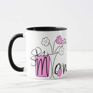 Mamma und der Blumen-Vase Tasse