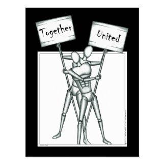 Manakin: Zusammen/vereinigt Postkarte