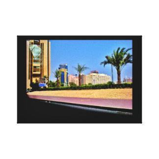 Manama-Straßen-Ansicht Leinwanddruck