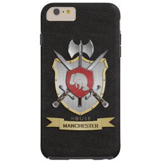 Manatis-Kampf-Wappen Sigil Schwarzes Tough iPhone 6 Plus Hülle
