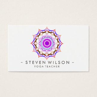 Mandala-Damast-Yoga-Lotos-Blumen-Meditation Visitenkarten