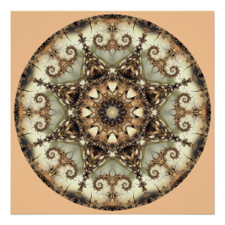 Mandala-Druck des Vanillegetränk-11 Poster