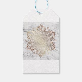 Mandala - Gold u. Marmor Geschenkanhänger