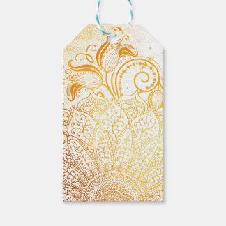 Mandala - goldene Bürste Geschenkanhänger