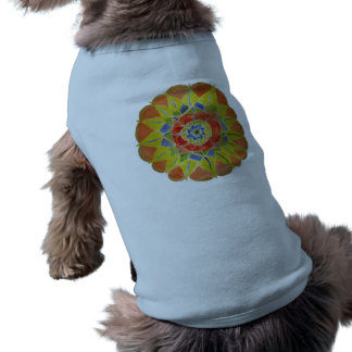 Mandala-Hündchen-gewelltes Trägershirt Ärmelfreies Hunde-Shirt