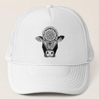 Mandala-Kuh-Fernlastfahrer-Hut Truckerkappe