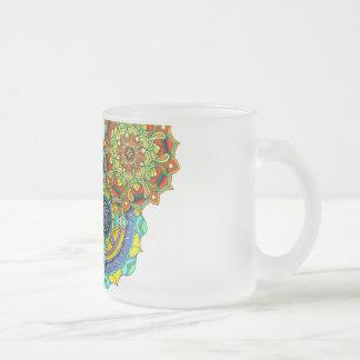 Mandala-Kunst - Balance Matte Glastasse