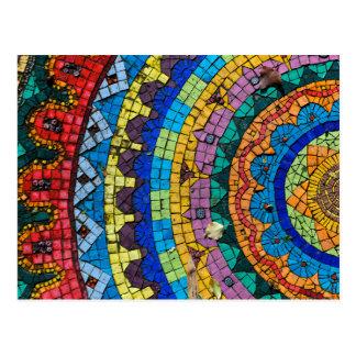 Mandala-Mosaik Monte Verità die Schweiz Postkarte