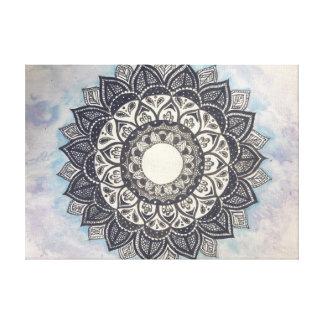 Mandala- und Wasserfarbe-Leinwanddruck Gespannter Galeriedruck