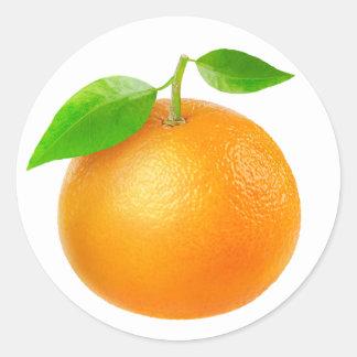Mandarine Runder Aufkleber
