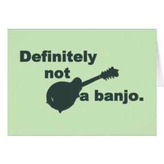 Mandoline -- Bestimmt nicht ein Banjo Karte