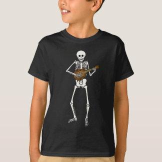 Mandoline, die Skelett spielt T-Shirt