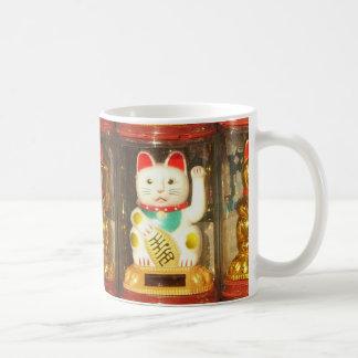 Maneki-neko, glückliche Katze, Winkekatze Kaffeetasse