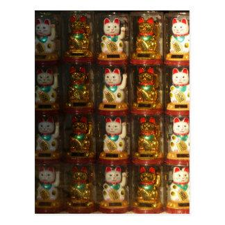 Maneki-neko, glückliche Katze, Winkekatze Postkarten