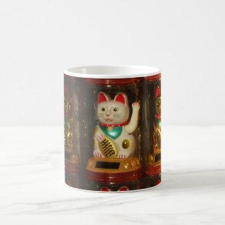 Maneki-neko, glückliche Katze, Winkekatze Tasse