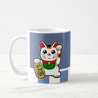 Maneki Neko: Japanische glückliche Katze Tasse