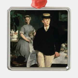Manet | Mittagessen im Studio, 1868 Silbernes Ornament